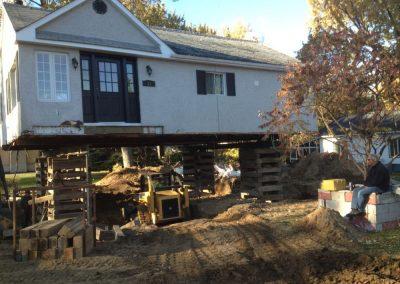 Fondations Levage de maison robert desjardins